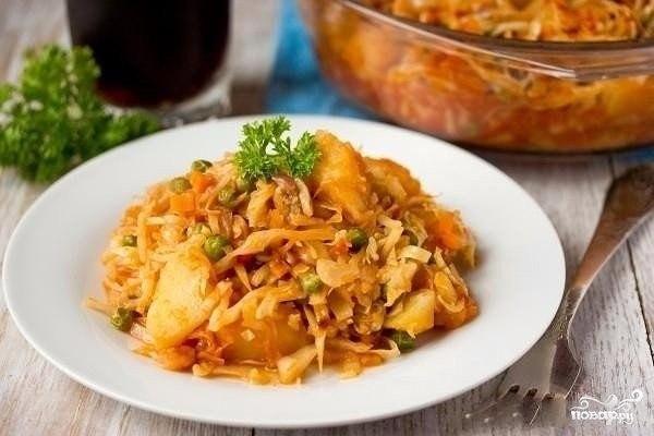 Рагу из кабачков с капустой рецепт