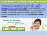 Quickbooks Customer Support Be satisfied with error free support