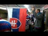 Болельщики Словакии с пивком в минском метро 9 мая. Охрана молчит...