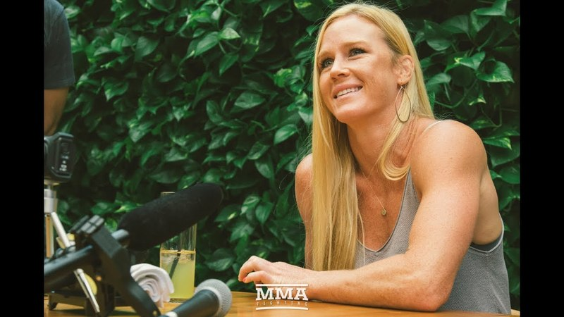 Holly Holm UFC 225 Media Lunch Scrum - MMA Fighting
