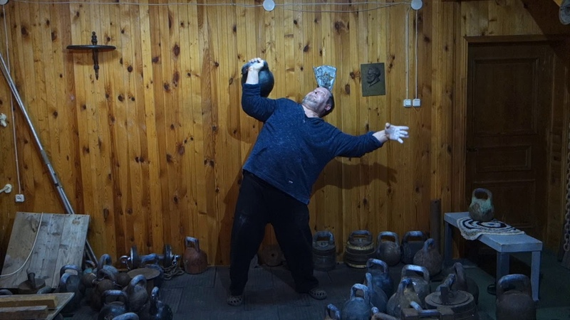 80 KG KETTLEBELL ONE HAND CLEAN AND PRESS 2 REPS ЖИМ ГИРИ 80 КГ 2 РАЗА