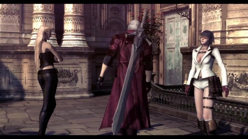 Devil May Cry 4 SE: Lady and Trish ending