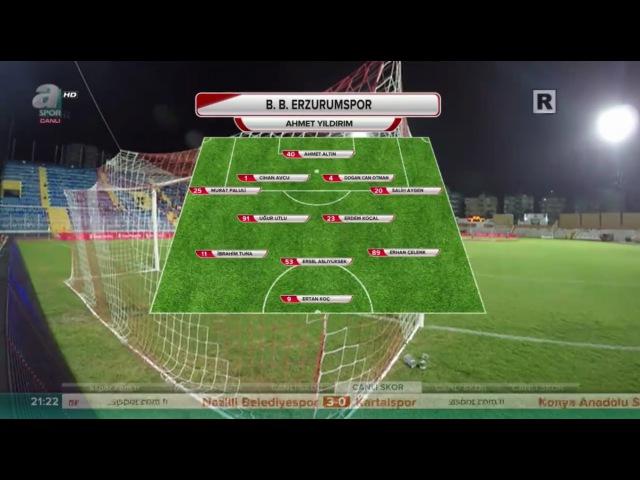 Adana Demirspor - Erzurum BB ( 1 - 3 ) Türkiye Kupası / Full match 2016/2017 HD