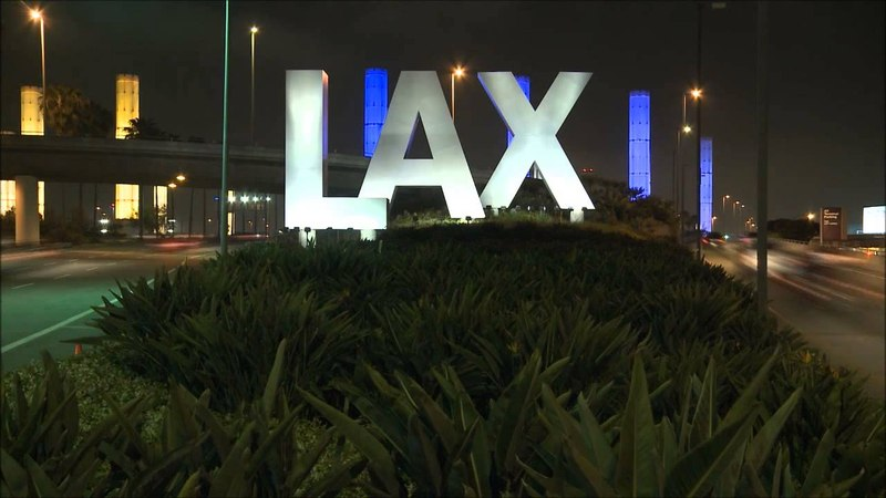 Time lapse LAX sign