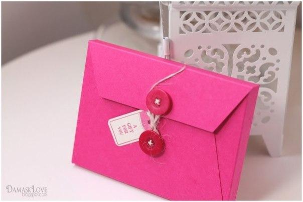 Красивый конверт для денег своими руками
