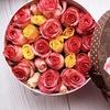 Цветы в коробке Москва / Макарони / Macarons