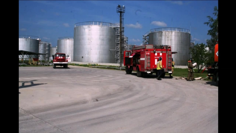 Пожарно-тактическое учение на нефтебазе