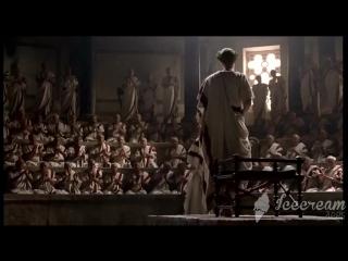 Октавиан заставляет сенат объявить убийц Цезаря врагами Рима