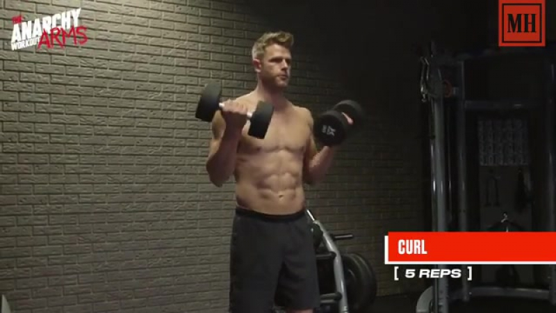 Look good with your shirt off using these dumbbell move