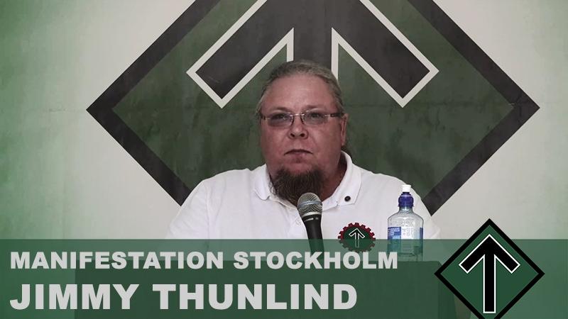 Manifestation Stockholm 2018 - Jimmy Thunlind talar