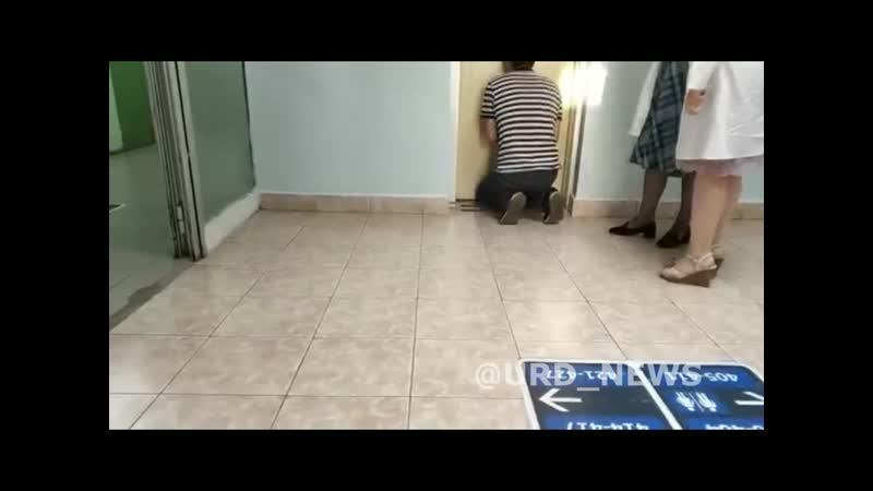 Спасение полуторагодовалого ребенка из лифта в московской поликлинике