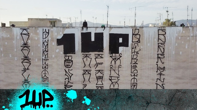 1UP GRAFFITI OLYMPICS DRONE VIDEO ATHENS