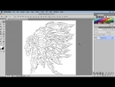 Lynda - Artist at Work - Native American Tribal Illustration 008 Importing your sketch