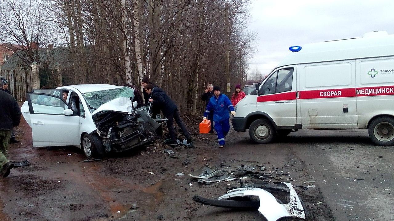 Под Петербургом столкнулись автомобили, в одном из которых был ребёнок
