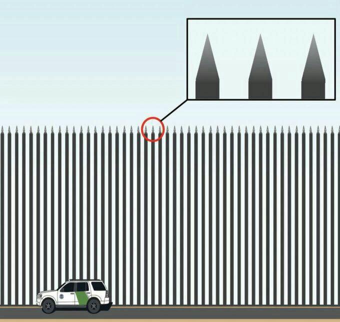 Дон Трамп в своем Твиттере опубликовал дизайн стены на грани