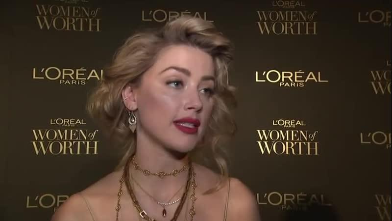 05/12/2018 Эмбер Хёрд на L'Oréal Paris «Women of Worth Celebration»