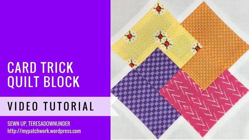 Card trick block - Mysteries Down Under quilt - video tutorial