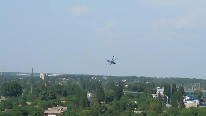 Обстрел аэропорта в донецке вертолетом 26.05.2014 ( 1-50) air atack on Donetsk airport