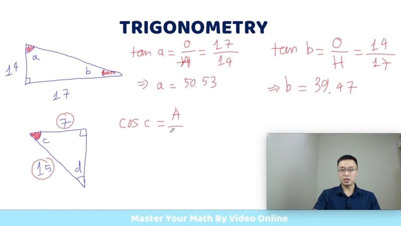 [Trigonometry 4-2] Tìm Góc Trong Tam Giác Vuông - Toán Quốc Tế IGCSE