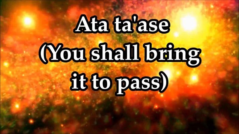 Keren Silver Ata Ta'ase You Shall Bring It to Pass Lyrics and Translation