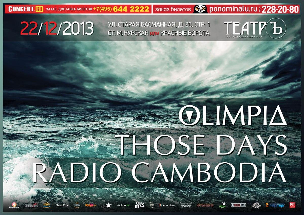 22.12 - Those Days, Radio Cambodia, Olimpia