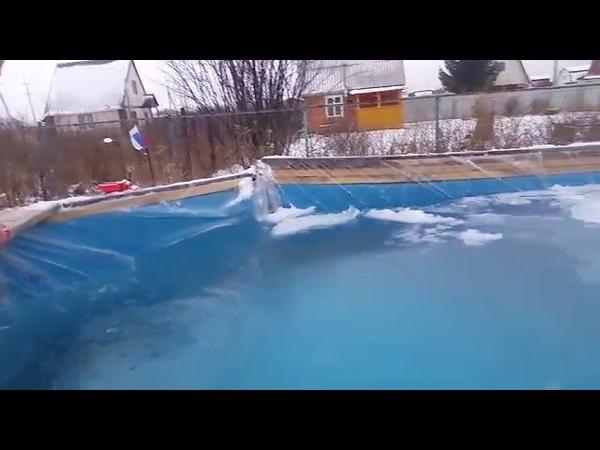 Плаваем в басике Зимой Закаляемся Ныряем под лёд