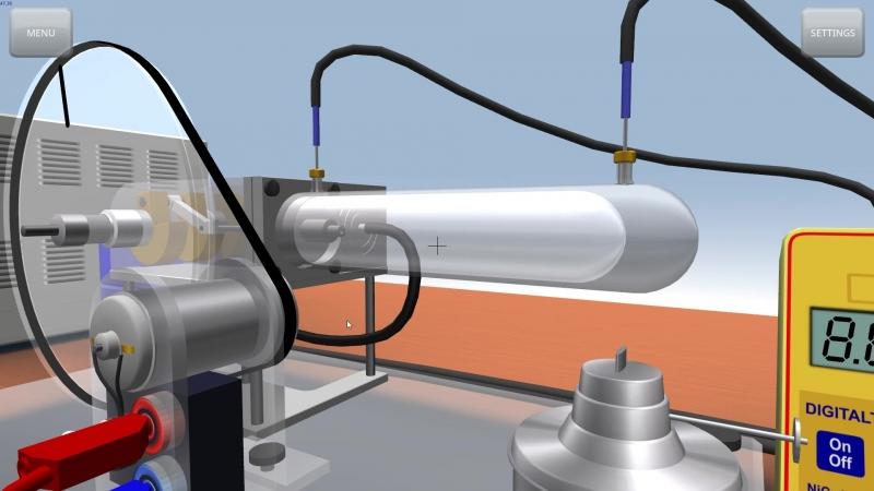 Кинематика двигателя Стирлинга модели G