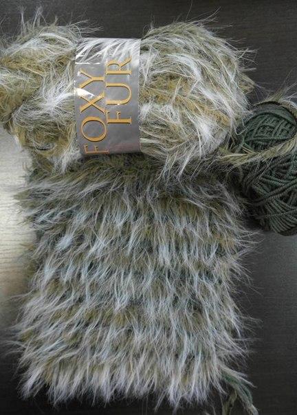 Вязание пряжа как мех 535