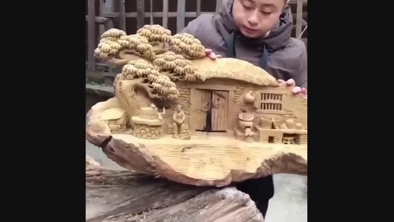 Китайский резчик по дереву