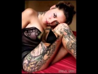 SEXY TATOOS GIRL AND METALLICA !!! SUPER!!! Luxury sexy pussy, their,, God,, tat...