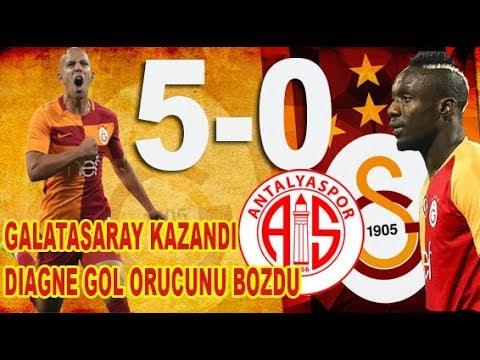 Galatasaray 5-0 Antalya DIAGNE Uyandı Levent Tüzemen Erman Toroglu