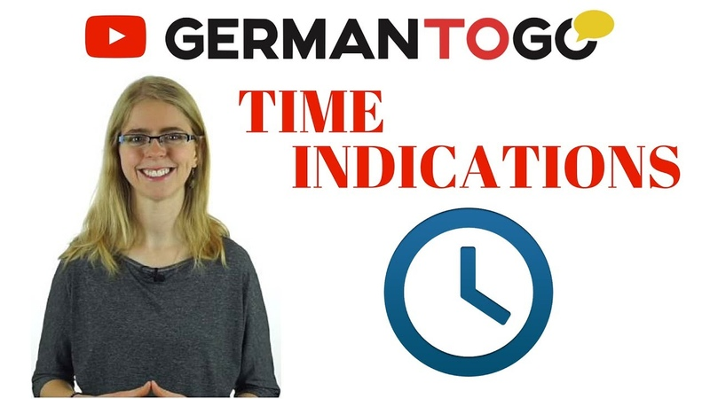 Day 89 - German to go - Zeitangaben Time indications (days of the week, day times, frequency)