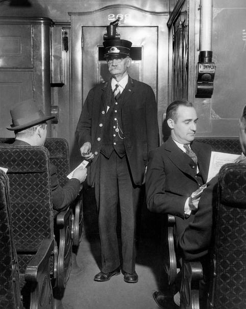 Фотография в поезде. США. 1938 год.