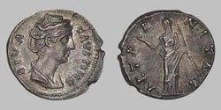 Древнеримские женщины-богини, монеты, Этернитас