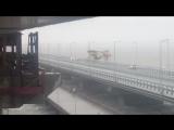 В Крымский мост врезался кран, 8 сентября