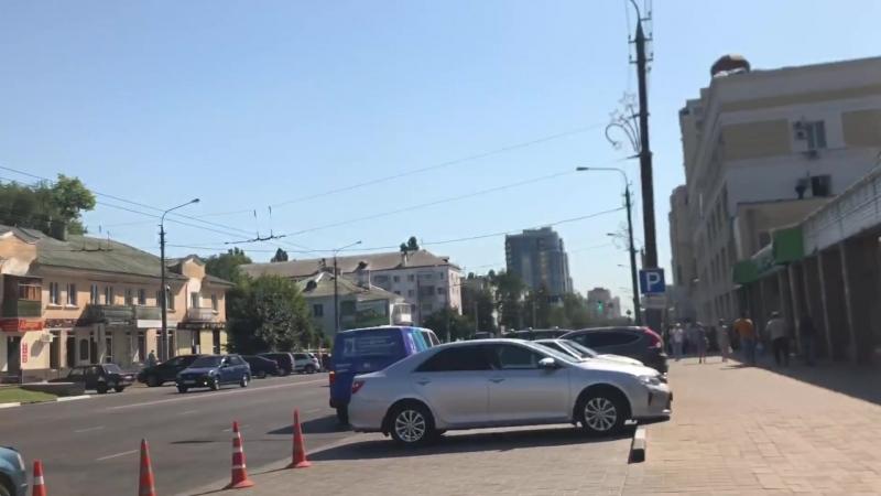 Захват парковки у рынка Белгорода можно ли победить конусы