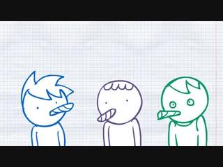Три девчонки в каморке (анимация)