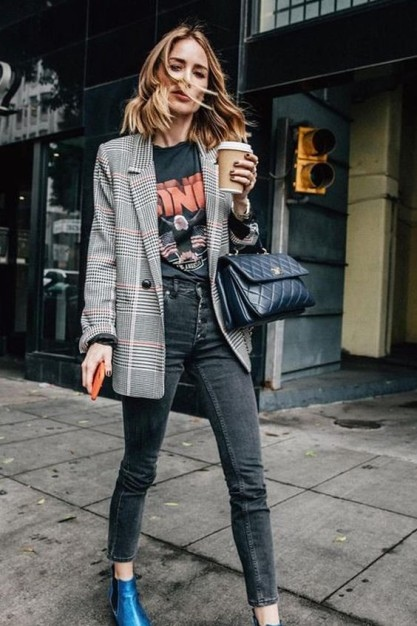 Длинный пиджак женский 2018-2019: с чем носить