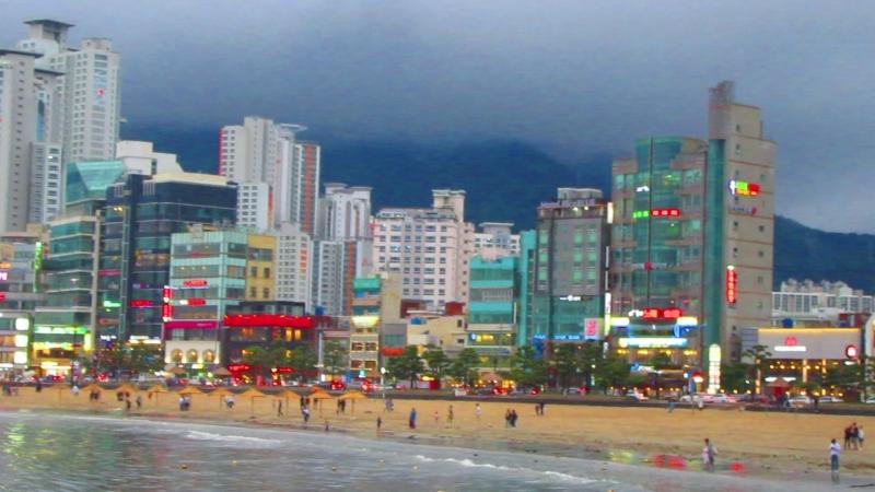 Южная Корея. Пусан. Набережная моря