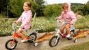 VLOG Прогулка на велосипедах в парке ГОНКИ на велосипеде ребенок катается ride bicycles