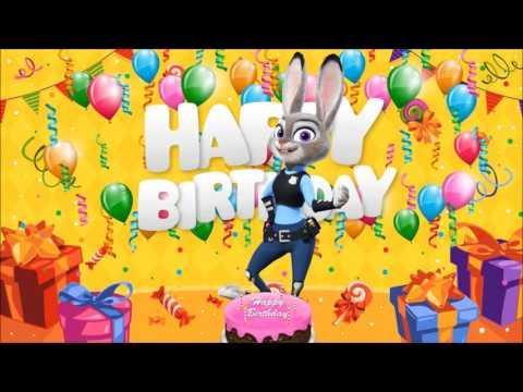 Zootopia Happy Birthday Wishes