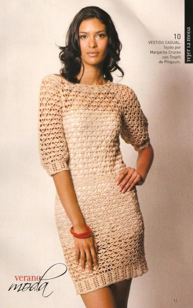 Вязаное Платье Большого Размера Схема