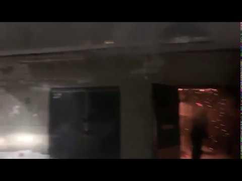 Горят гаражи около Каландаришвили 385