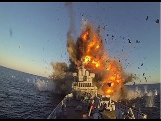 The EXPLOSIVE moment Norwegian navy blows up its OWN ship to test out latest long-range missile