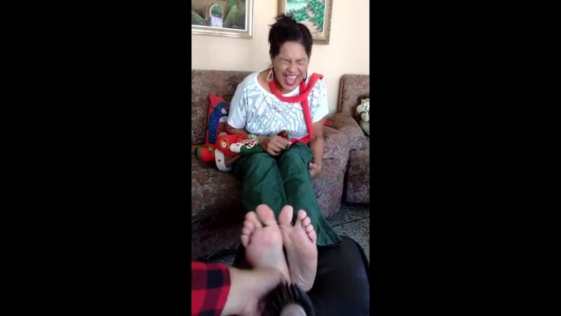 Feet tickling. Really ticklish!