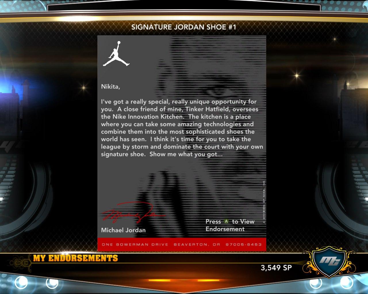 Письмо Джордана моему игроку в нба2к13