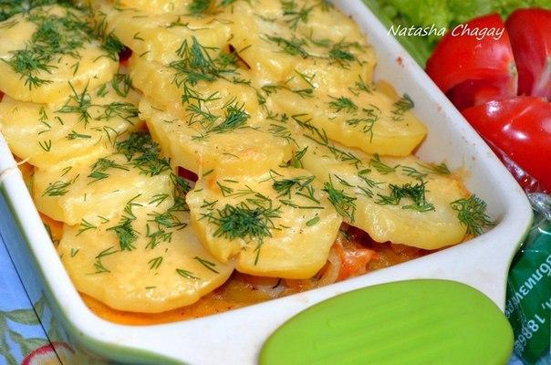 Картошка рыбой рецепт фото