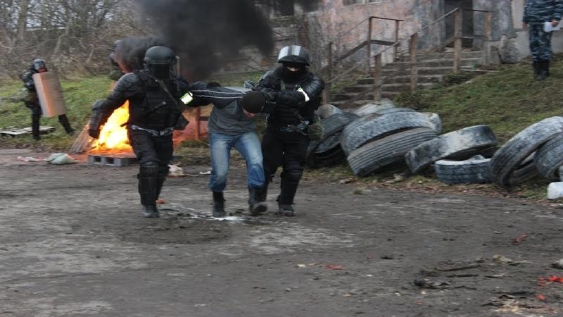 Пресечение массовых беспорядков.Учения Уфсин России по Калининградской области
