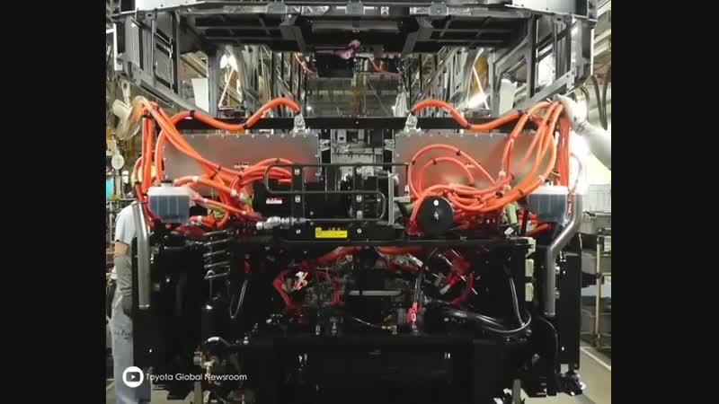 Производство водородных автобусов Toyota FC Bus Fuel Cell ghjbpdjlcndj djljhjlys fdnj ecjd toyota fc bus fuel cell