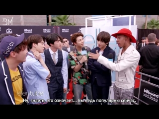 [RUS SUB][22.05.18] BTS @ Kalen Talks at the 2018 Billboard Music Awards
